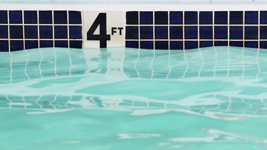 Stock Video Of Four Foot Depth Marker On Side 4590908 Shutterstock