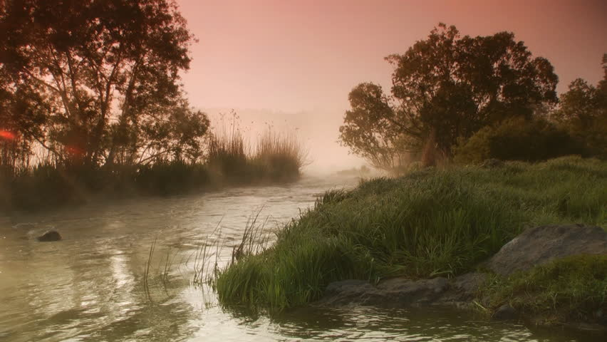 Misty Morning On the River Stock Footage Video (100% ...
