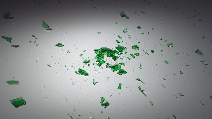 Dropping and smashing glass bottle shooting with high speed camera, phantom flex.