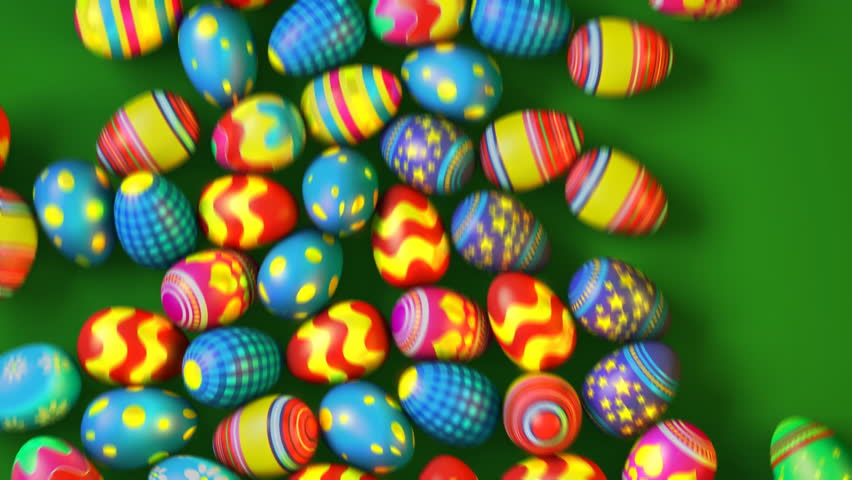 Easter eggs rolling on green background | Shutterstock Video #4635794