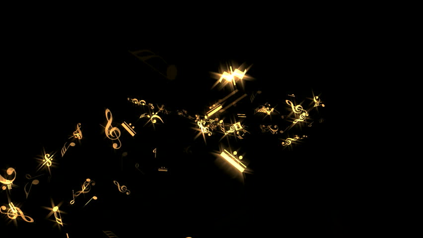 Music Notes - Golden Sparking - Spurt Transition 3