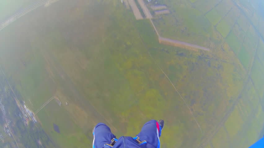 Video parachute jumps (skydiving) from a first-person | Shutterstock HD Video #4640546
