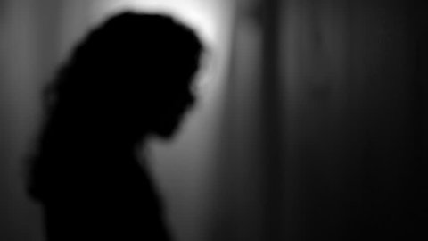 Medical Depression Silhouette Woman Black and White Despair Bipolar Disorder Depressed Hurting Alone