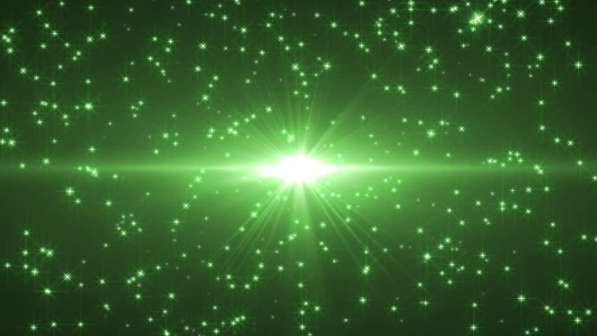 Green Star Stream Background Stock Footage Video 100