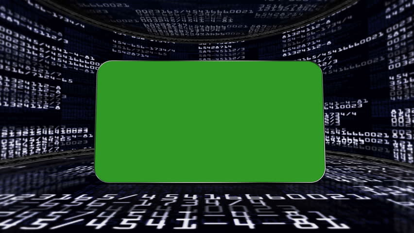 Numbers Code and Green Screen Monitor, in Room   Shutterstock HD Video #4699298