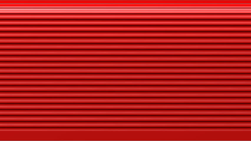 A Closeup Of A Red Garage Roller Door Opening From Bottom To Top Revealing  A Blank Background Stock Footage Video 4727558 | Shutterstock