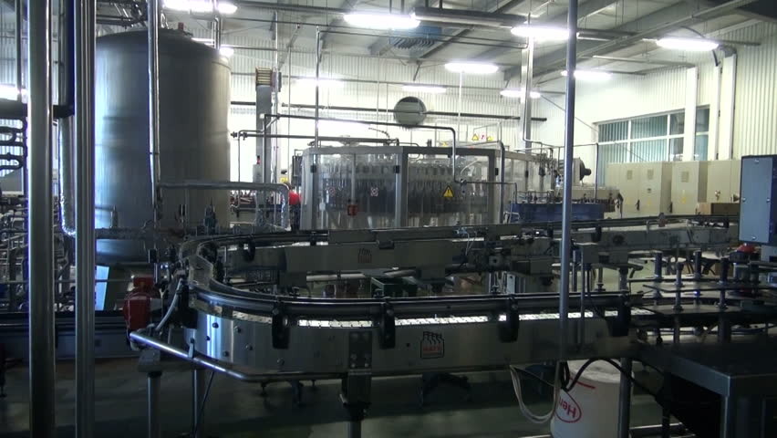 Beer factory brewery construction and plastic bottle line     Shutterstock HD Video #4755947