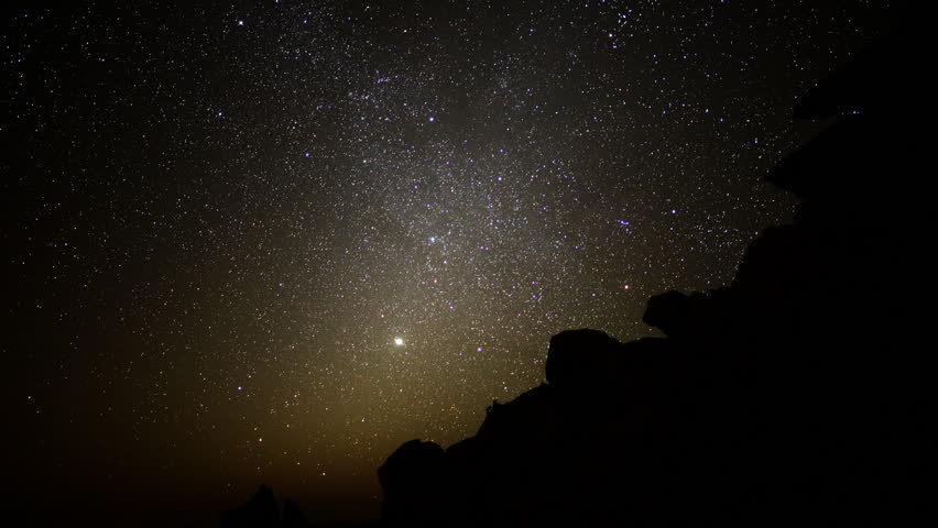 Astrophotography Time Lapse -Night to Day in Desert-