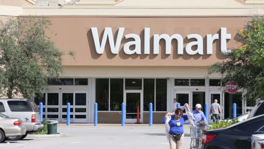 HALLANDALE - SEPTEMBER 26: Walmart is an American multinational retail corporation that runs chains of large discount department stores and warehouse stores September 26, 2013 in Hallandale, USA