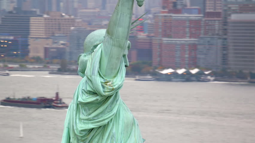 Aerial view of Statue of Liberty   Shutterstock HD Video #4785218