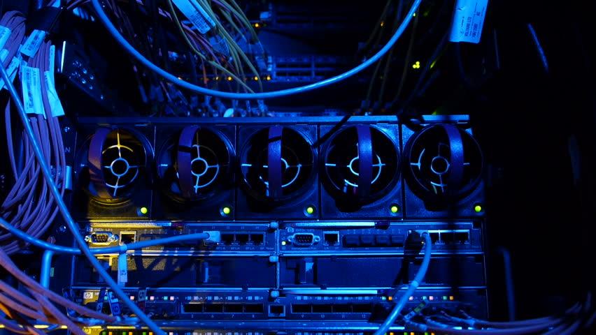 Scientific data center Network connections | Shutterstock HD Video #4790069