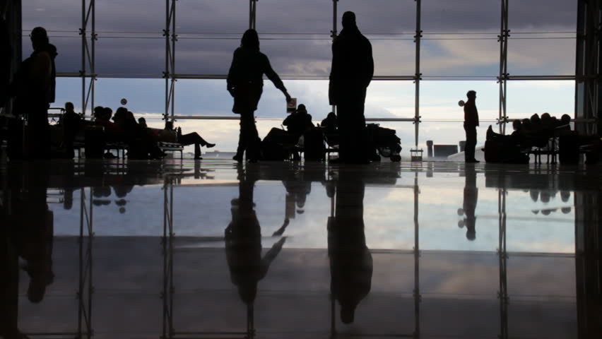 People at Barcelona airport