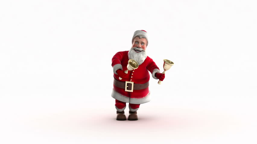 Funny Santa Claus Dancing. Include alpha channel