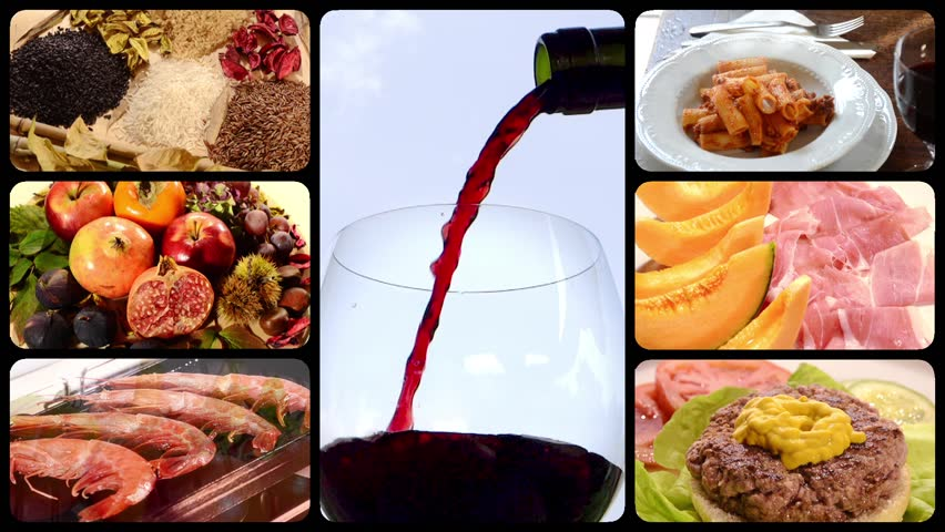 Food and drink, montage  | Shutterstock HD Video #4811519