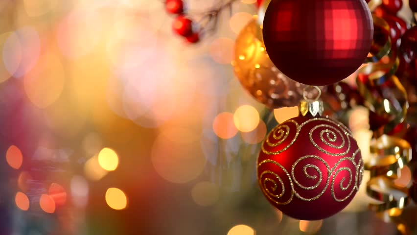 Christmas and New Year Decoration. Abstract Blurred Bokeh Holiday Background. Blinking Garland. Christmas Tree Lights Twinkling. | Shutterstock HD Video #4820948