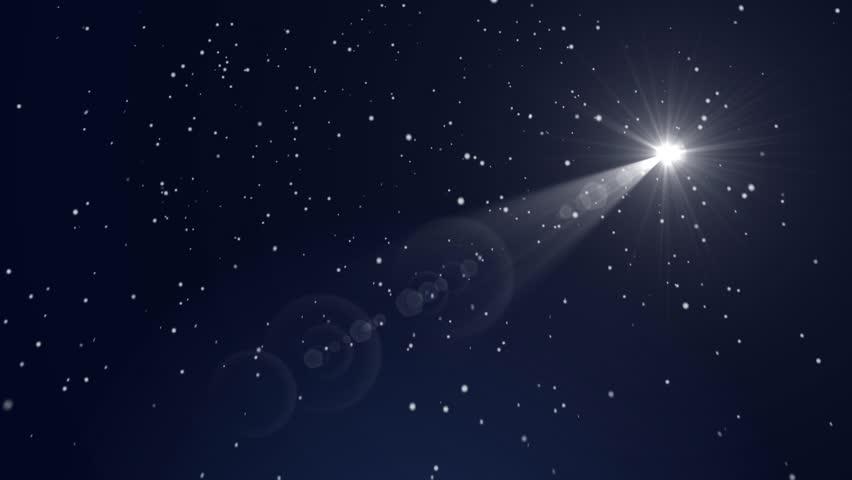 Christmas Star and Snow