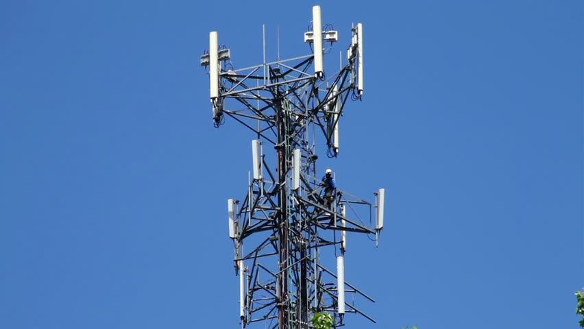 Coastal Surveillance Radar Antenna Spinning On The Top Of