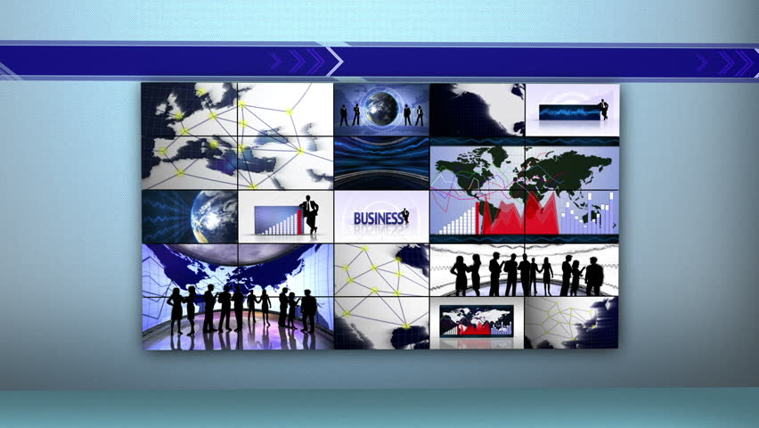 Business Montage in Monitors and Room | Shutterstock HD Video #4849040