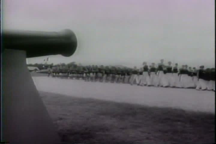 1940s - Brazilians protest the axis powers in World War Two.