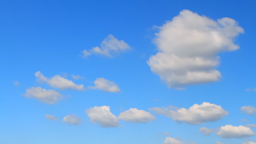 photographing the sky with cumulus clouds flying on a sunny day with strong wind #4881728