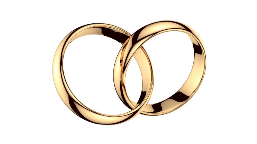 Two Golden Rings On White Stock Footage Video 100 Royalty Free 4884398 Shutterstock