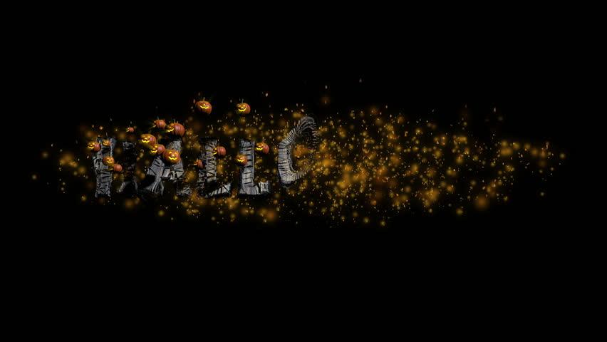 Halloween Title with Pumpkins   Shutterstock HD Video #4890608