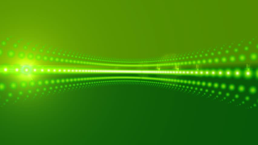 News Style Background - Green Abstract Motion Background with Lines and Lens Flares
