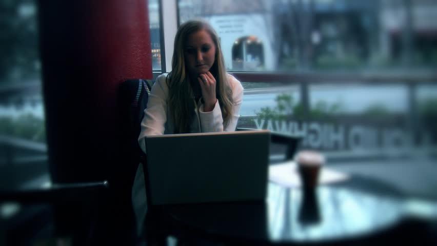 Girl working on computer | Shutterstock HD Video #4918298