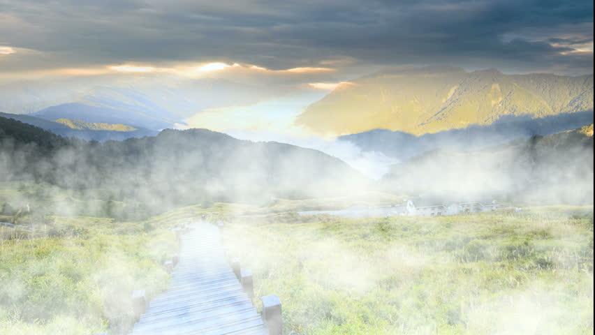 Time lapse of beautiful high mountain sunset | Shutterstock HD Video #4923518