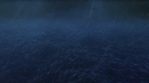 Storm over the ocean - loop