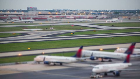 Unique time lapse of airplane traffic taking off at the world's busiest airport.