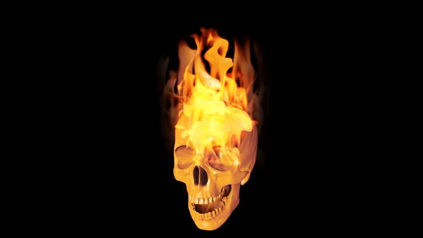 Burning skull 3000625 shutterstock skull on fire hd stock footage clip voltagebd Choice Image