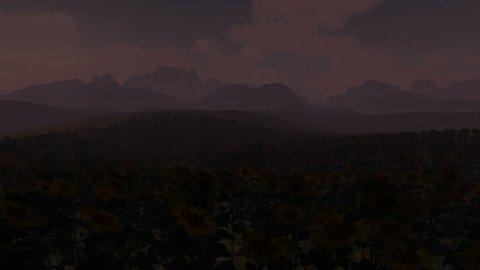Like sunflowers to the sun go, 3D Animation loop, How Time flies