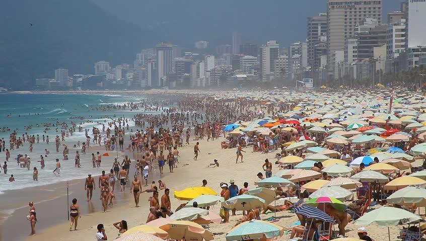 Ipanema Brazil, summer 2013: Ipanema beach, important point of sports in Rio de