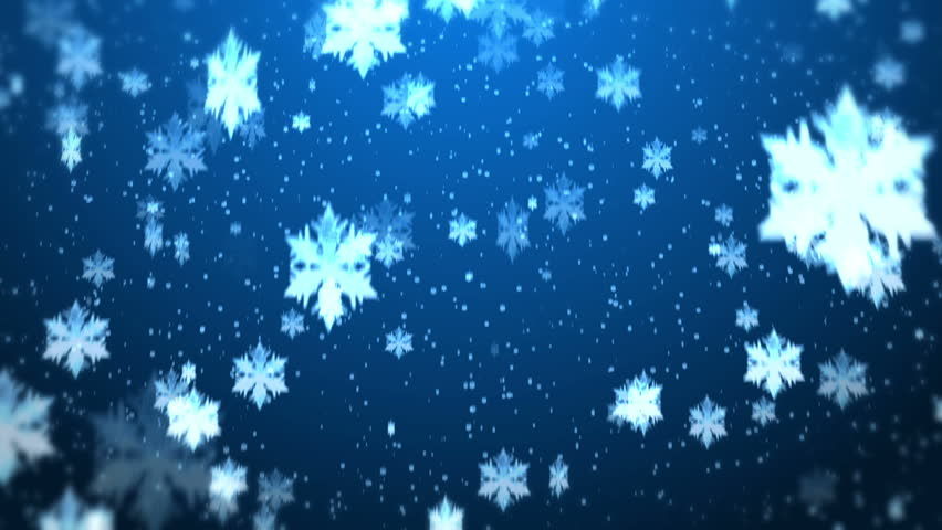 Falling snow twitter background