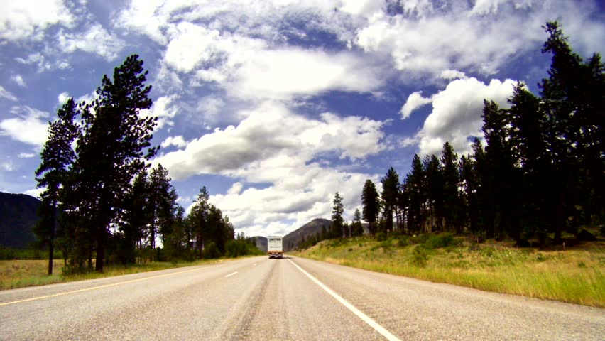 hd time-lapse driving along I-90 through Montana
