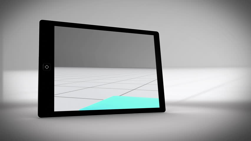 Video about tablet showing statistics on grey background | Shutterstock HD Video #5064098