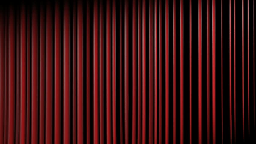 3D Theater Curtain And Black Background Animation