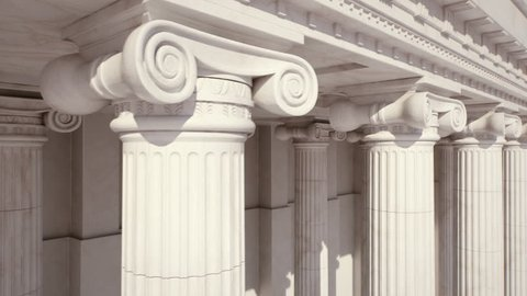 Marble Columns. Loopable  LR Pan. capital (column) view.