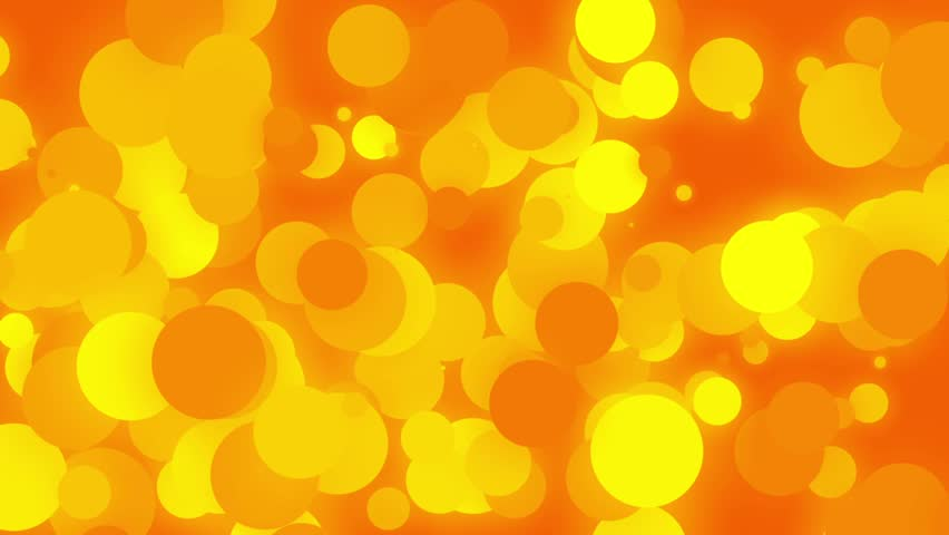 Orange Glowing Slow Moving Spheres Abstract Background