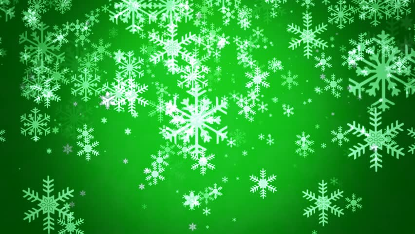 Green Mood snowflakes flow in green mood background final cut support stock