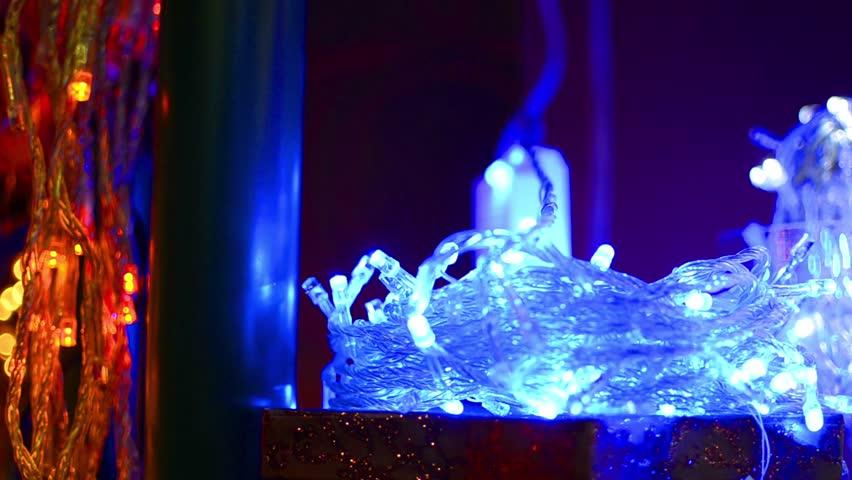 hd christmas lights random blinks loop hd stock video clip - Random Twinkle Christmas Lights