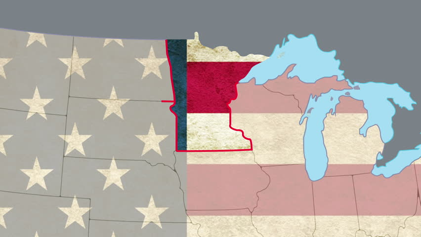 Wisconsin Pull Out Smooth USA Map Vector Origin No Signs Or - Usa map no states