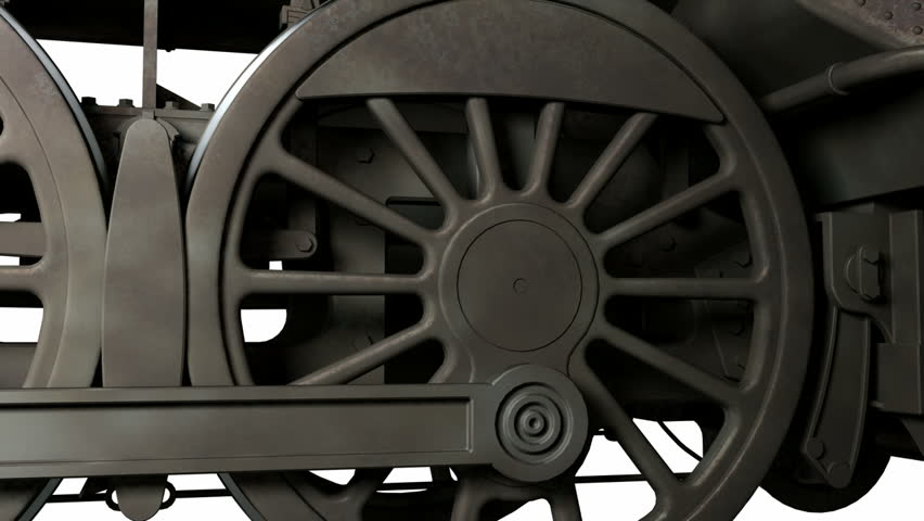 Motion wheel of antique train