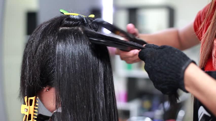 Professional Hair Dresser Used Hair Straight Iron Straightener Hair