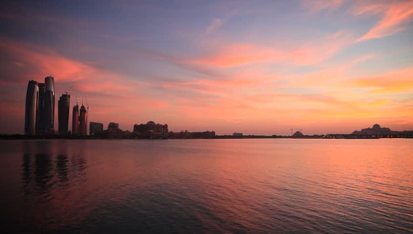 Sunset in Abu Dhabi