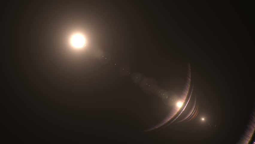 Lens flare effect on black background (rim light) | Shutterstock HD Video #5215718