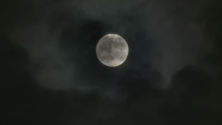 A realtime shot of the full moon on a cloudy night. Not computer generated. In 4K UltraHD. | Shutterstock HD Video #5235800