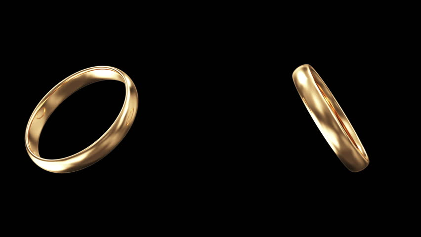 Wedding Rings Gold Animation Stock Footage Video