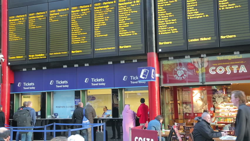 London united kingdom february 21 2014 timetable with - Stansted express ticket office liverpool street ...